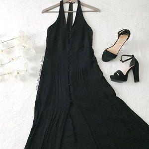 Black Button Down Maxi Dress